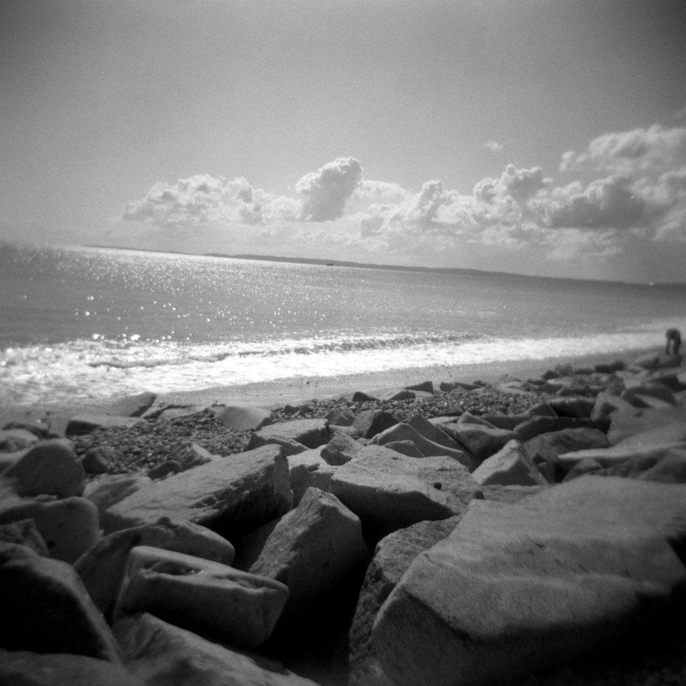 Das Meer durch eine analoge Holga betrachtet