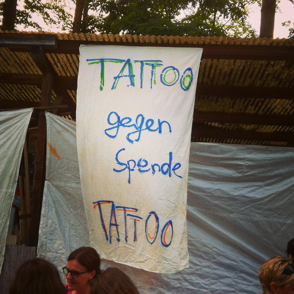 Tattoo gegen spende