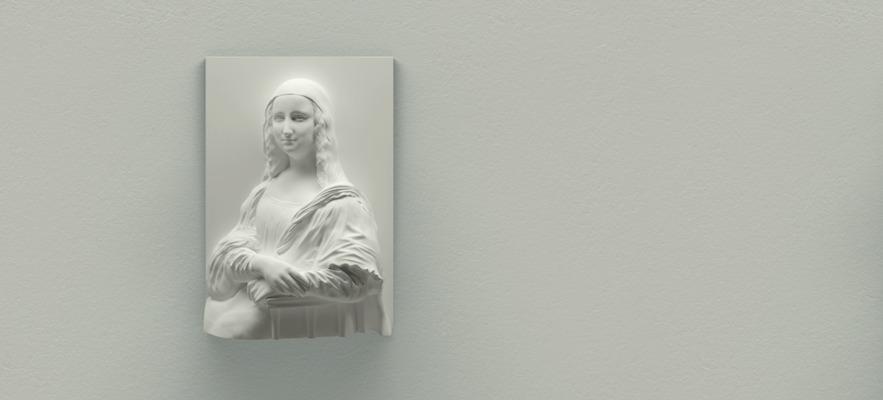 Die 3D gedruckte Mona Lisa