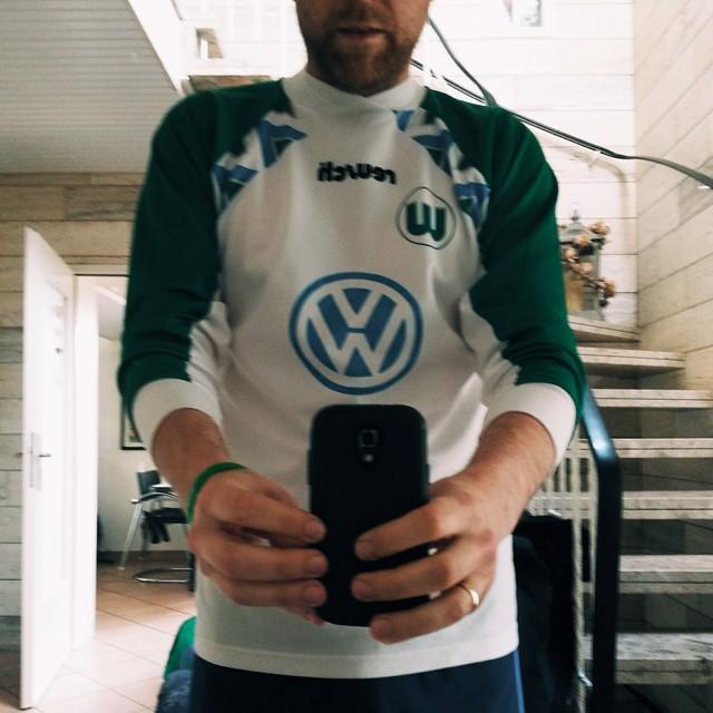 Ich konnte es kaum glauben das mir das Trikot immer noch passt, welches ich 1995 zum Finale in Berlin trug